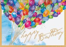 Burst of Color Birthday Cards
